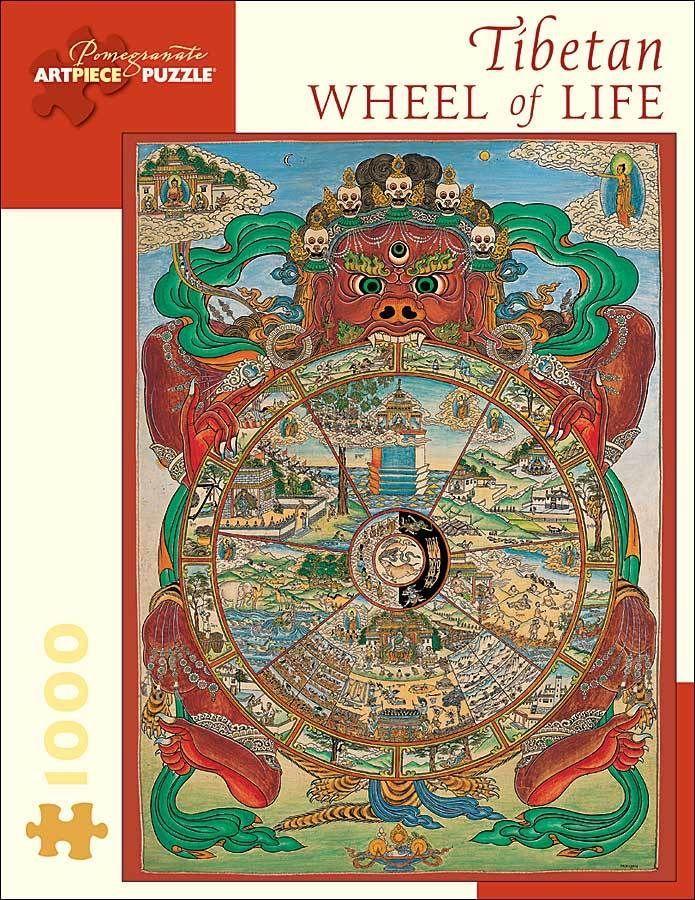 Pomegranate Jigsaw - Tibetan Wheel of Life (1000 pieces)