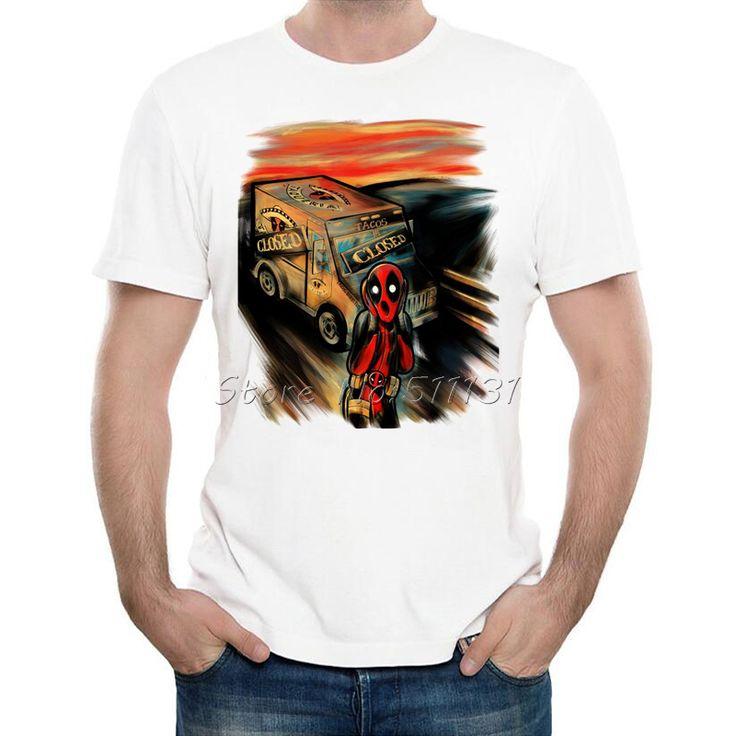 Cheap 2016 Nuevo Llega El Comic Americano Rudo Deadpool Harley Quinn Joker camiseta Divertida Camiseta Para Hombre de la Historieta tee shirts Casual tops, Compro Calidad Camisetas directamente de los surtidores de China:  estimado Cliente, todas las camisetas sonTamaño asiático,es más pequeño que EE. UU., LA UE, REINO UNIDO, AU tamaño,&nbs