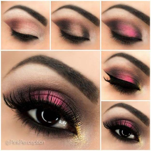 Makeup Ideas For Prom - Breathtaking Pink Smokey Eye - These Are The Best Makeup Ideas For Prom and Homecoming For Women With Blue Eyes, Brown Eyes, or Green Eyes. These Step By Step Makeup Ideas Include Natural and Glitter Eyeshadows and Go Great With Gold, Silver, Yellow, And Pink Dresses. Try These And Our Step By Step Tutorials With Red Lipsticks and Unique Contouring To Help Blondes and Brunettes Get That Vintage Look. - thegoddess.com/makeup-ideas-prom