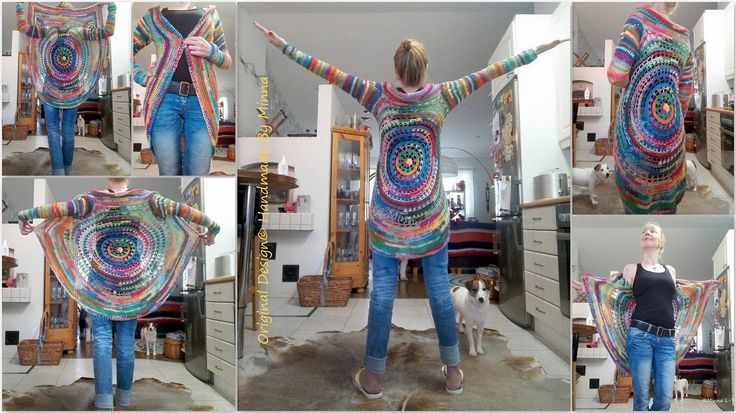 Colorful crocheted jacket <3 My own design.