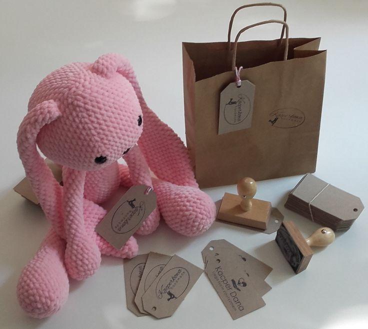 amigurumi crochet rabbit pink pastel