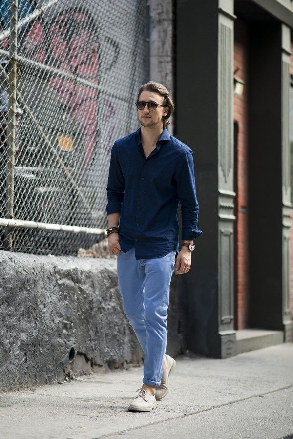 Why Every Man Needs A Pair Of Light Blue Chinos By Marcel Floruss
