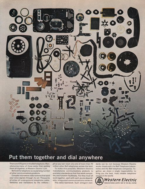 1965 Western Electric print ad 475 parts to a by catchingcanaries, $8.00
