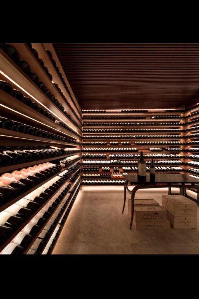 Wine cellar.