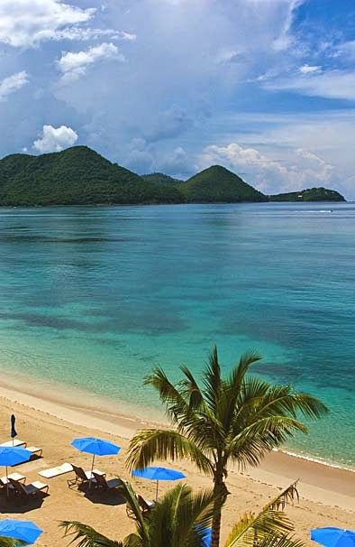 Pigeon Island and Beach St. Lucia