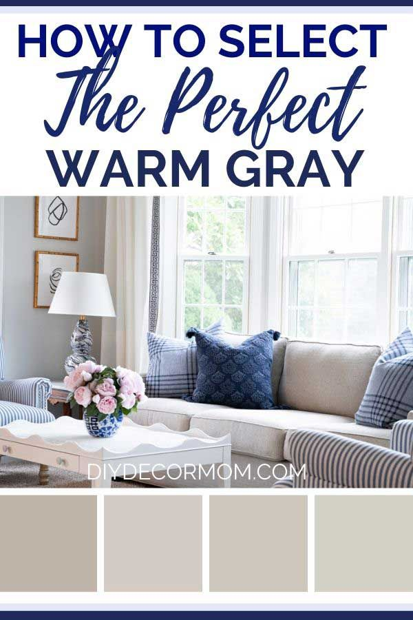 See The Secret To Picking Out The Perfect Warm Gray From Interior Designers Plus 11 Grey Paint Living Room Warm Grey Paint Colors Paint Colors For Living Room