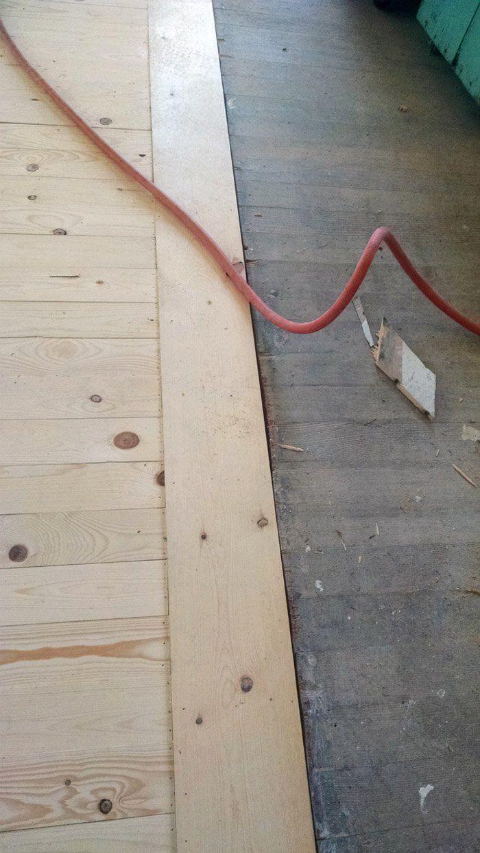 Inexpensive Wood Floor That Looks Like A Million Dollars Do It Yourself In 2020 Diy Hardwood Floors Cheap Wood Flooring Pine Wood Flooring