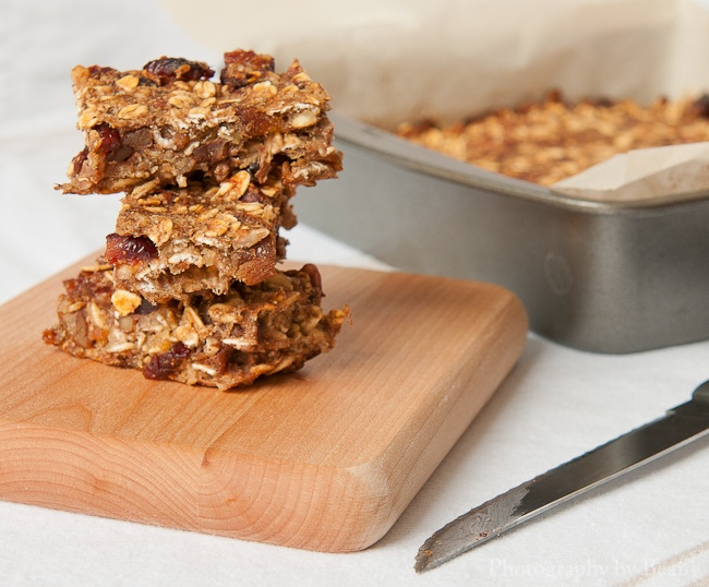 Low Fat Granola Bars with Bananas, Cranberries and Pecans | Granola ...