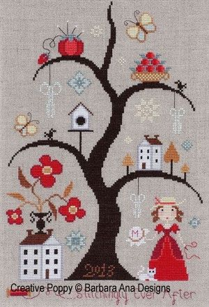 Stitchingly Ever After counted cross stitch by thecottageneedle, $12.00