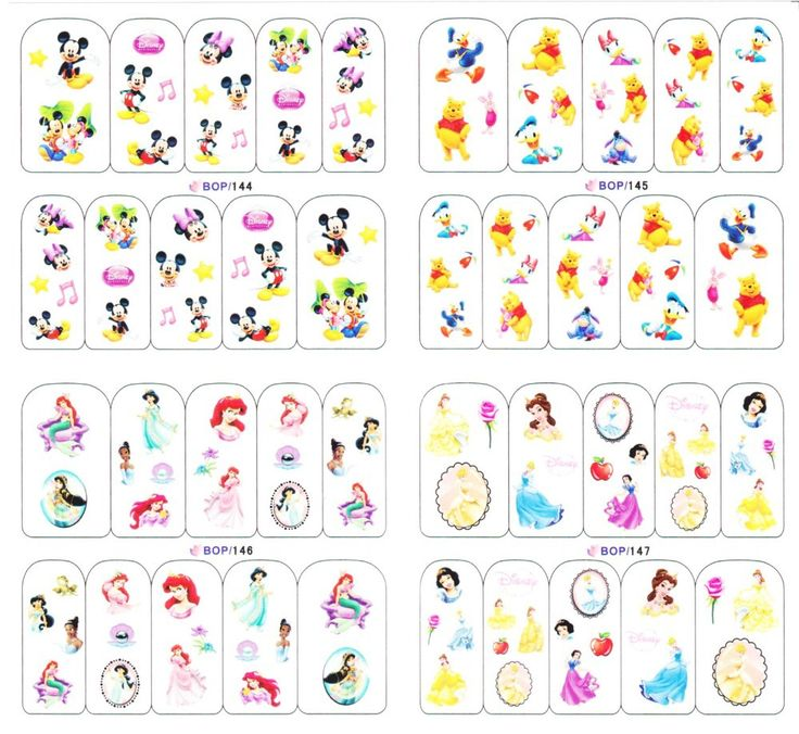 Disney Nail Decal | Best Nail Designs 2018