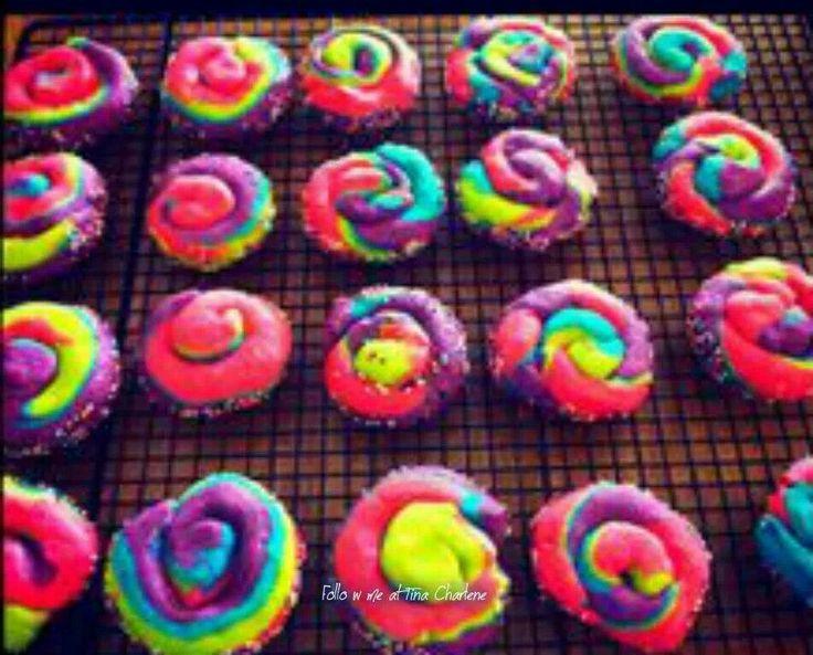 Rainbow pinwheel cookies | Recipes | Pinterest