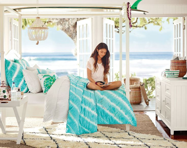 teenage girl bedroom ideas ocean - Themed Teenage Bedrooms