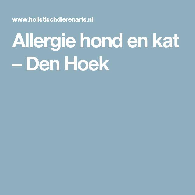 Allergie hond en kat – Den Hoek