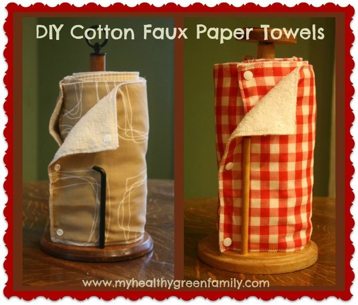 DIY Faux Paper Towels.  Upcycled, Eco-friendly and Cheap!: