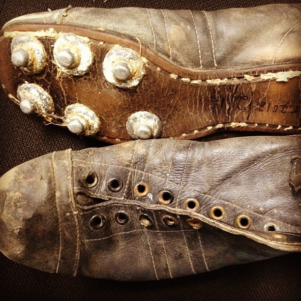 Picture yourself in these boots. Circa 1950s rugby boots donated to #newzealand #rugby museum in early 2012. #instagram by @manawatu_nz  via Statigram