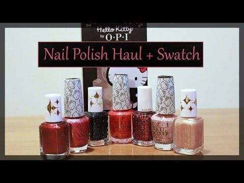 Cute Polish Haul + Swatches : Essie Retro Revival + OPI Hello Kitty Collections - YouTube