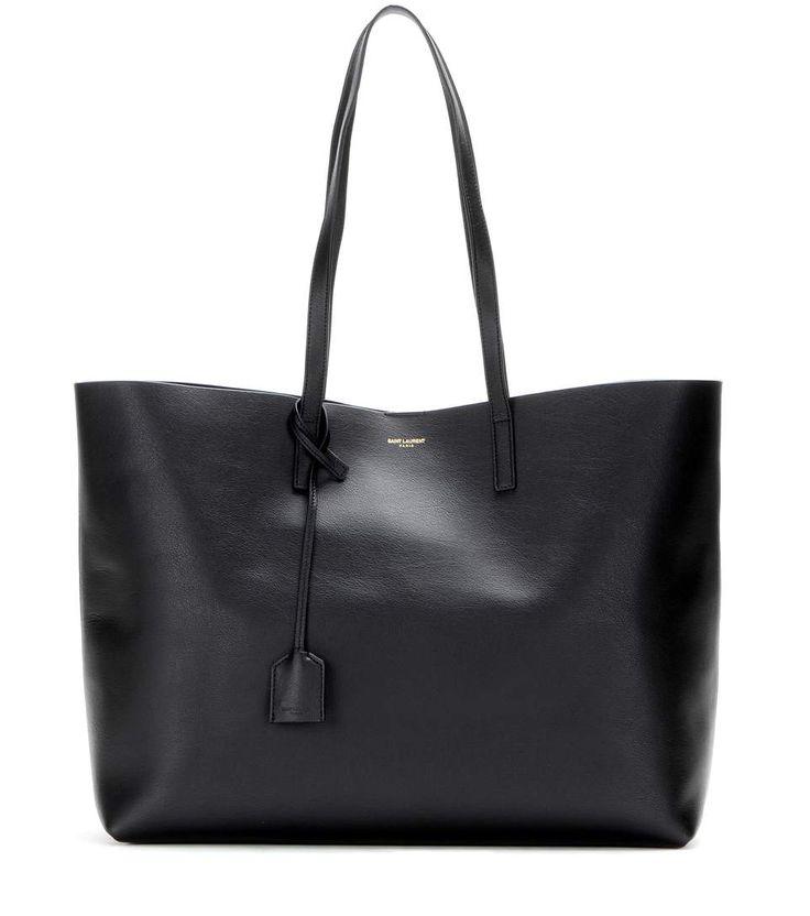 Cabas en cuir noir - Saint Laurent