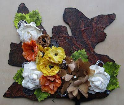Flower Mask by Gemma Hynes #inkykitty #paperflowers #masks