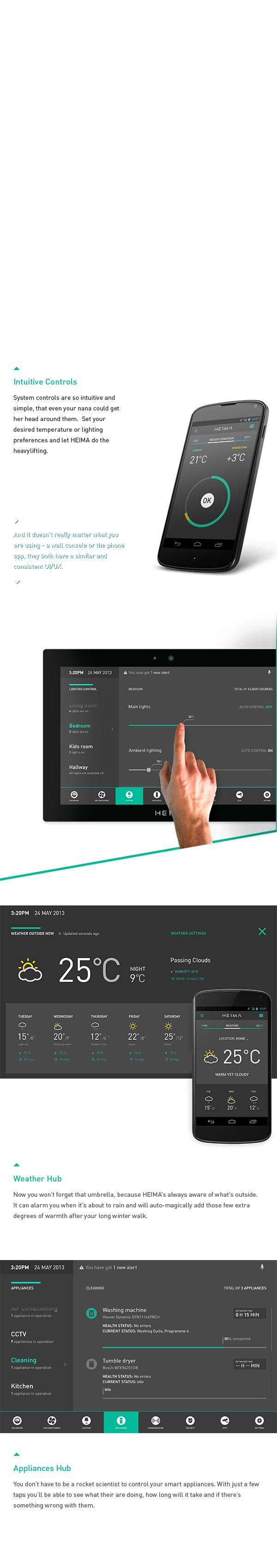 HEIMA. Smart Home Automation UI. on Behance
