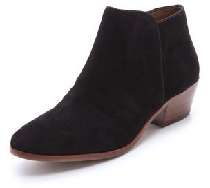 $135, Black Suede Chelsea Boots: Sam Edelman Petty Suede Booties. Sold by shopbop.com. Click for more info: https://lookastic.com/women/shop_items/33679/redirect