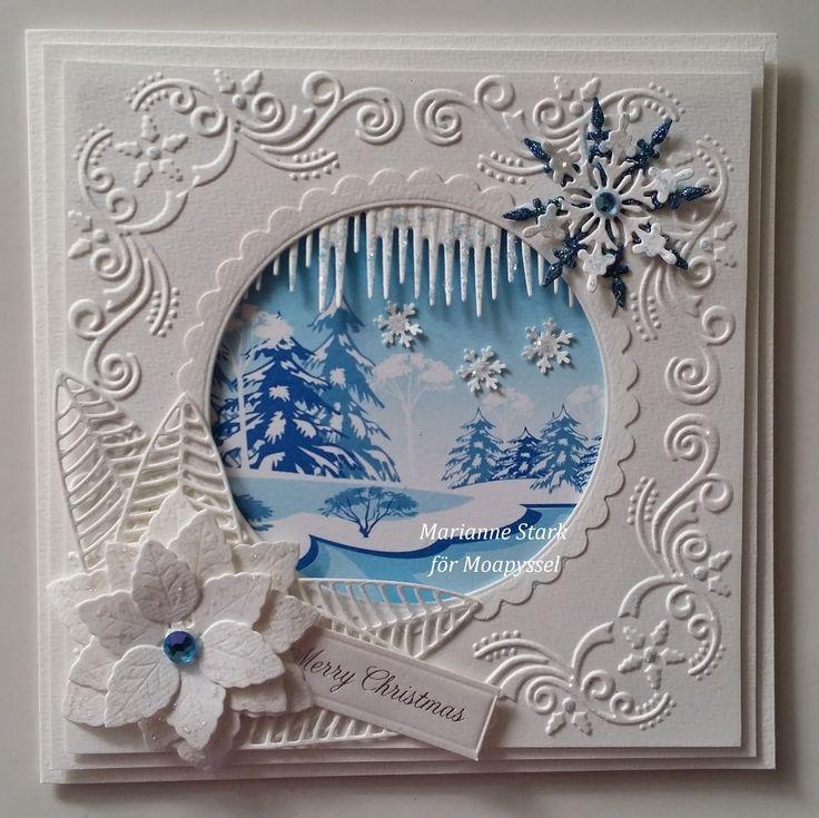 Hejsan på er!!   Jag har gjort två julkort med de fina Dixi Toppers, dem finns i flera färger och är perfekta att använda till julkort. Väld...