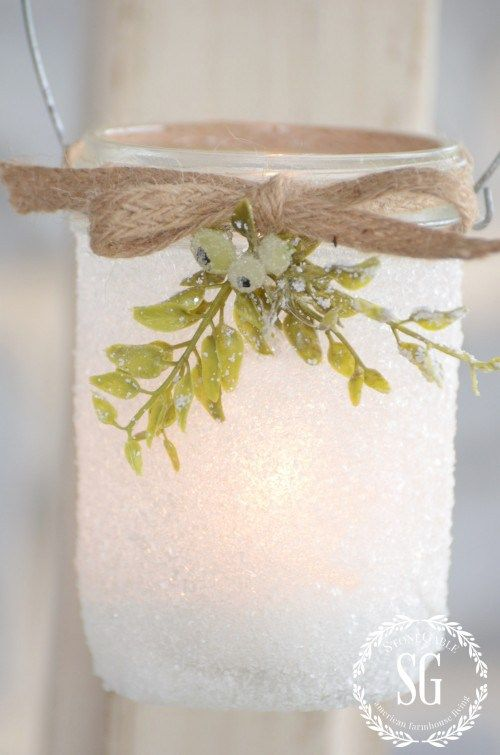 FROSTY MASON JAR LANTERNS