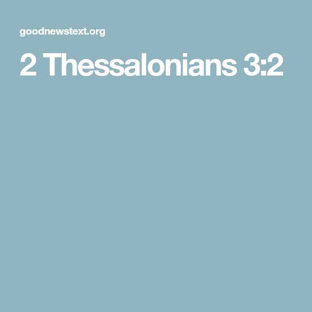 2 Thessalonians 3:2