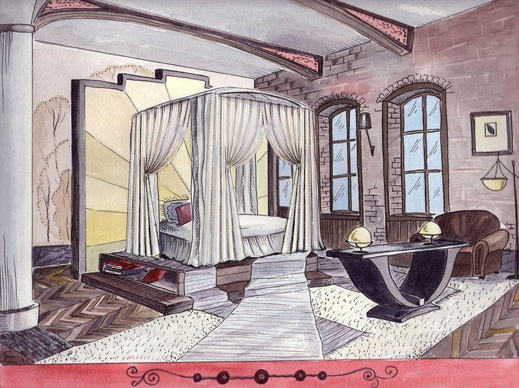 interior rendering bedroom by oxana panteleeva
