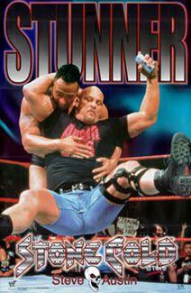 Stone Cold Steve Austin STUNNER Wrestling Poster- available at www.sportsposterwarehouse.com