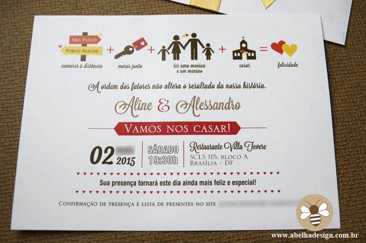 Convite De Casamento Com A História Dos Noivos