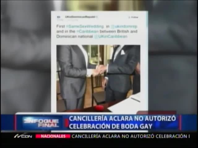 Canciller Aclara Que No Autorizó Boda Gay En Embajada Británica #Video