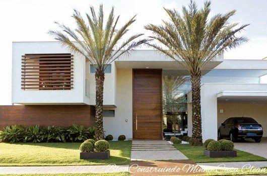 25 Fachadas de Casas com Palmeiras!!! Veja os Tipos mais Usados!http://www.construindominhacasaclean.com/