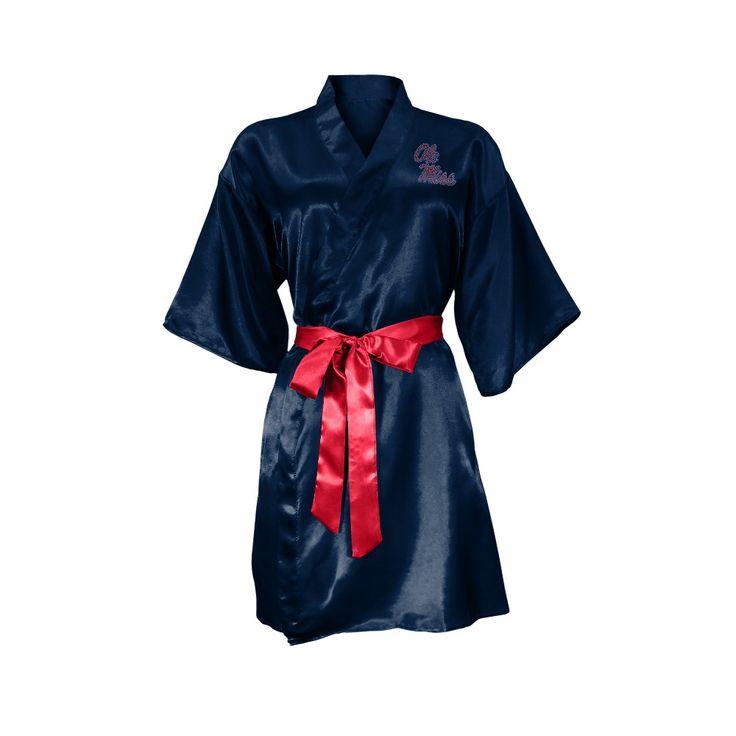 NCAA Ole Miss Rebels Little Earth Satin Kimono - S/M, Size: Small