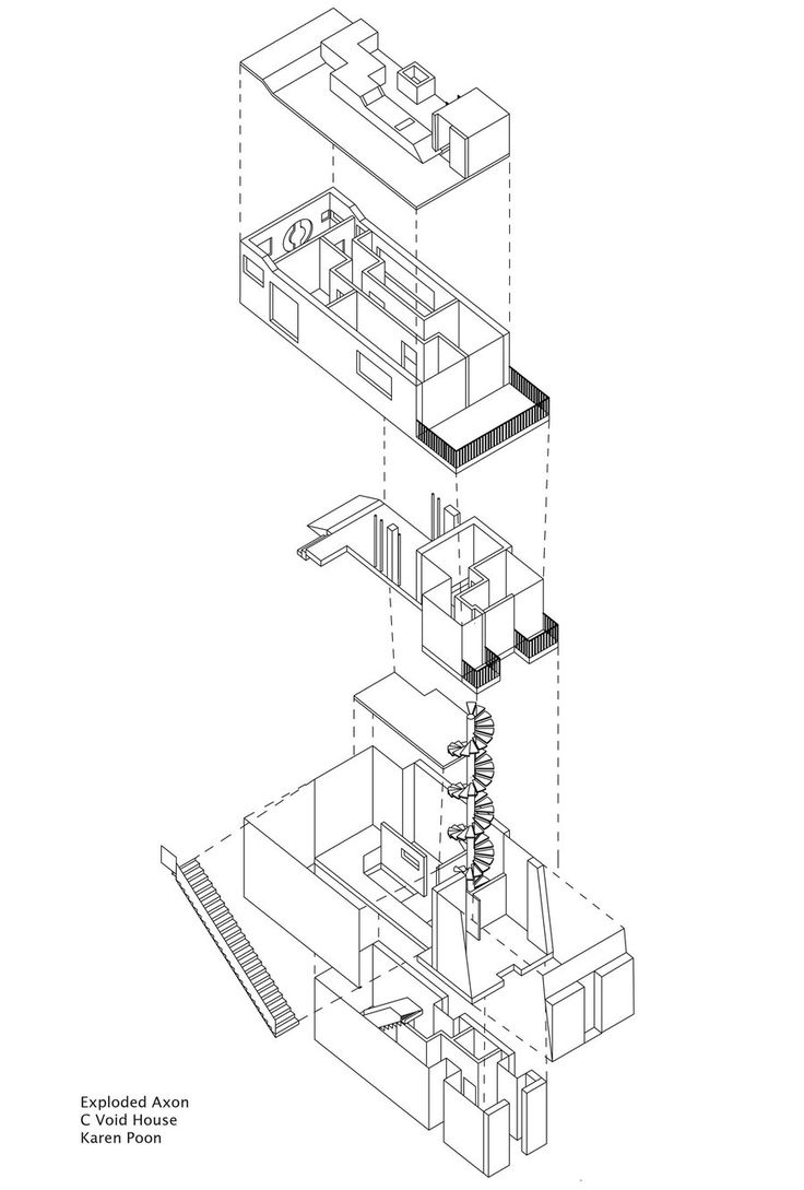 Exploded Axonometric Diagram by Whymingdeviantart
