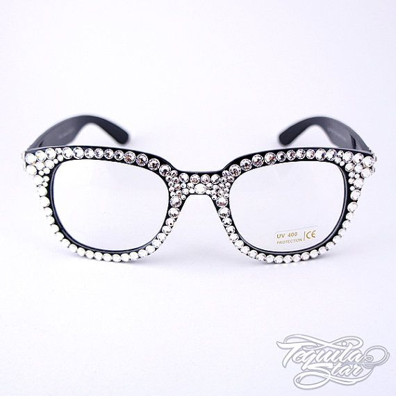 Swarovski Crystal Geek glasses by tequilastar on Etsy, $60.00