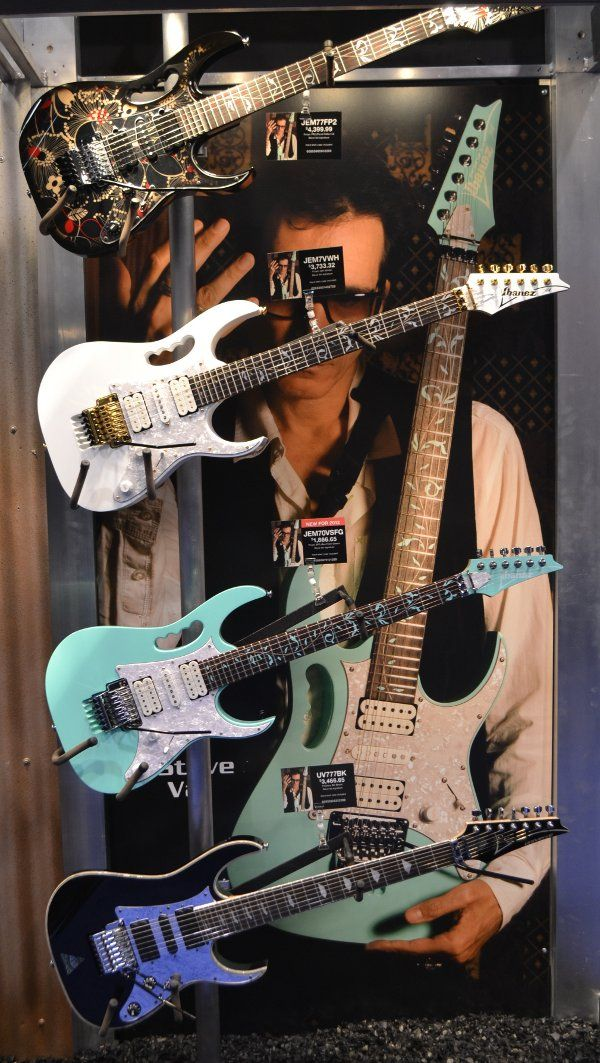 Ibanez Steve vai exhibit. All of these guitars rock!