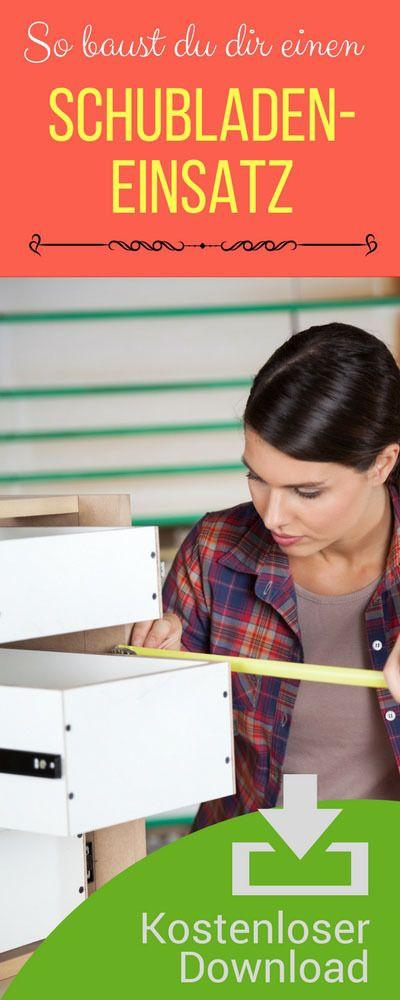 Checklisten Besteckkasten für Schublade selbst bauen. Bauanleitung Besteckeinsatz Schublade.