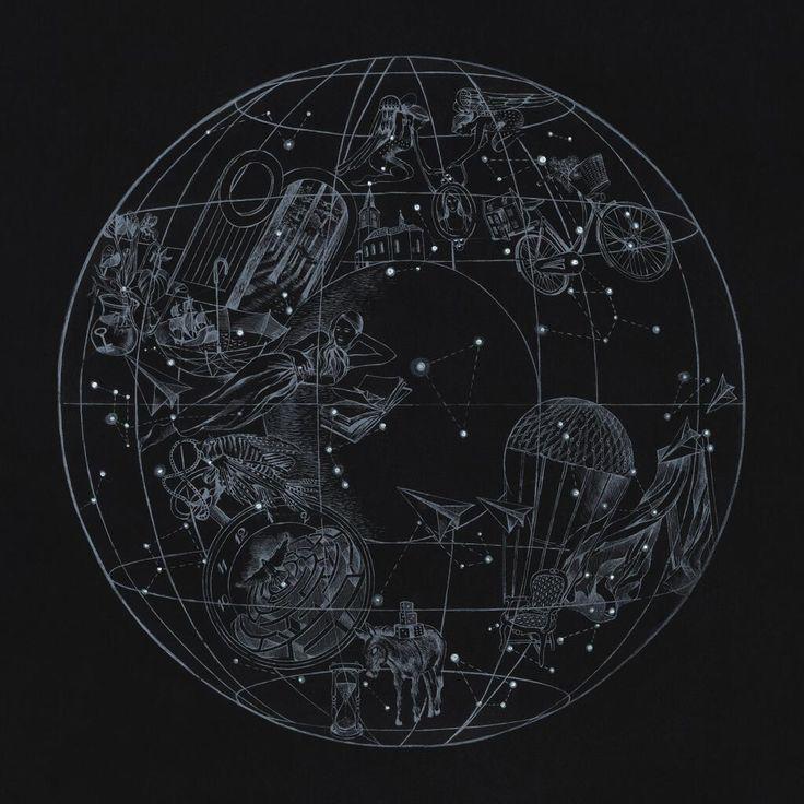 """A Sky Full Of Stars by Coldplay (single cover) | Author: Mila Fürstová"" Etch design idea"