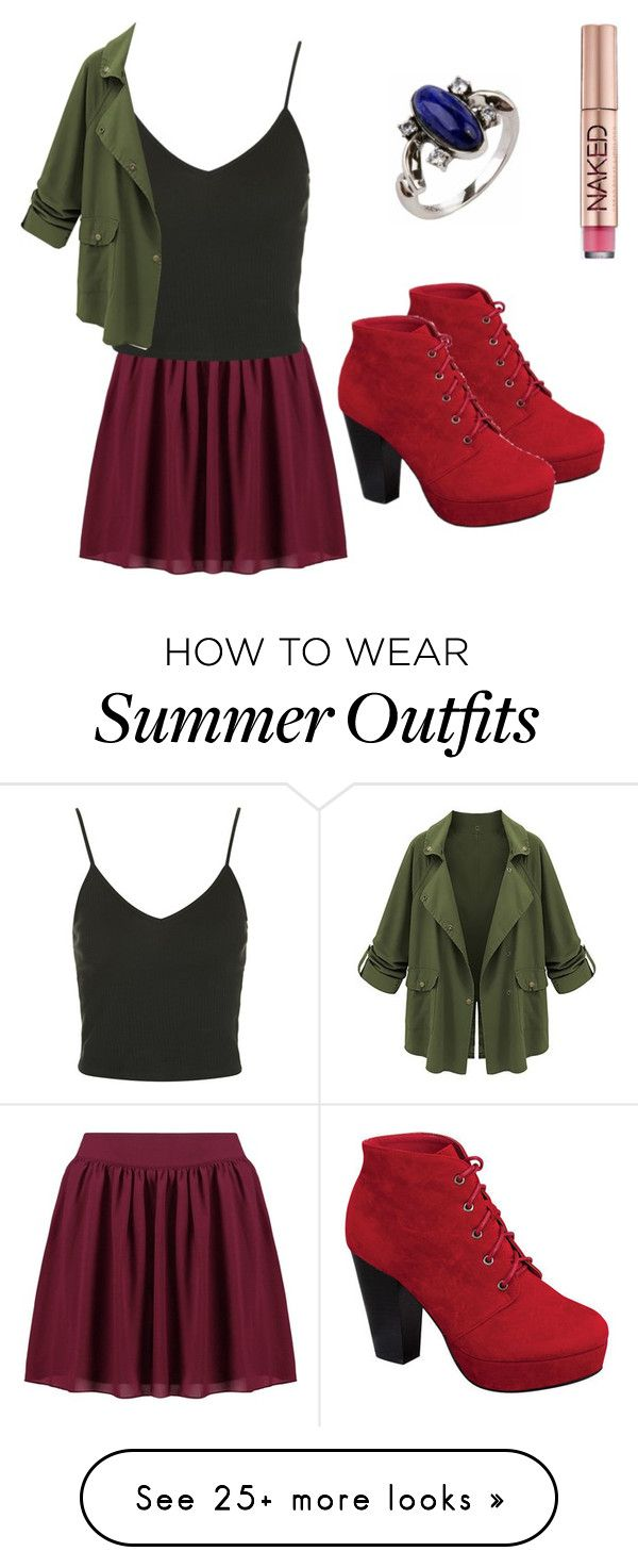 """""""summer outfit 53"""" by adelineojeda on Polyvore featuring Boohoo, Topshop, Wild Diva and Urban Decay"""