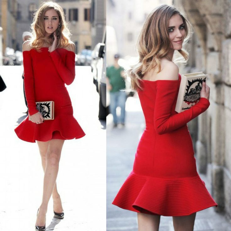 fashion strapless red dress