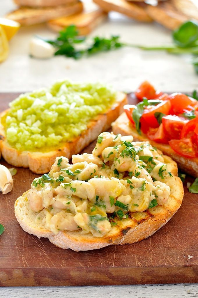 Transform a humble can of cannellini beans into something amazing. One of 3 bruschetta toppings for a Trio of Bruschetta Spread. #Italian #a...