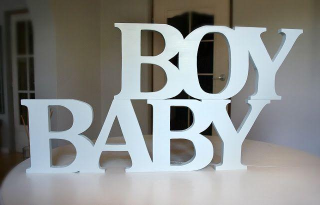 Litery drewniane - napis BABY BOY, bardzo jasny błękit, producent: world of wood