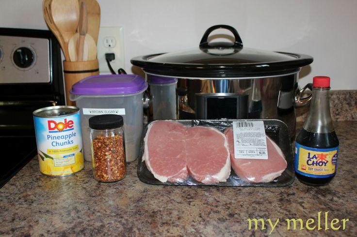 5 Ingredient Slow Cooker Hawaiian Pork Chops