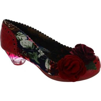 Feel fantastic in these adorable mid heeled beauties.  5cm (2 inch) medium heels. - Colour : Navy/Red - Shoes Women £ 92.99