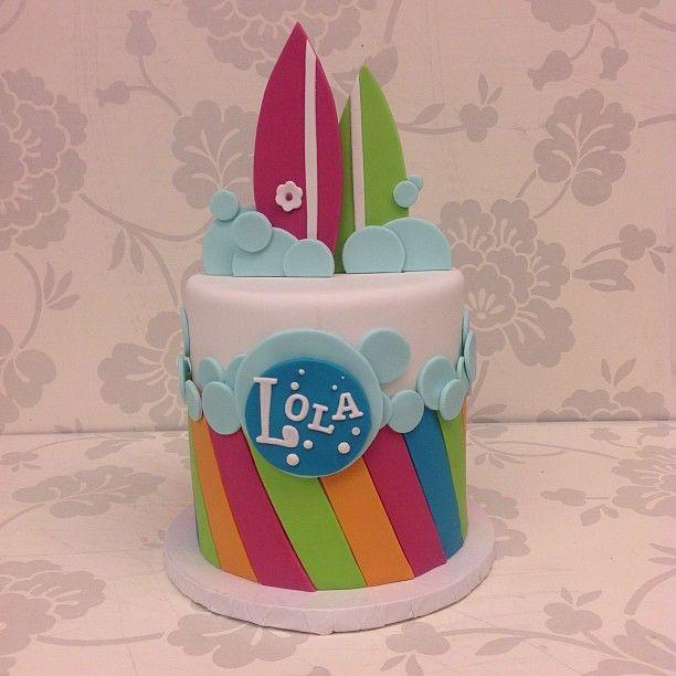 Surf girl cake