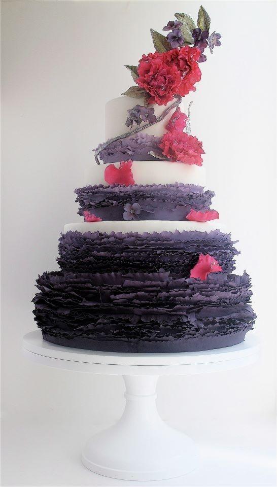 maggie austin: Amazing Cakes, Austin Cakes, Cakes Decor, Ruffles Cakes, Wedding Cakes, Eating Cakes, Maggie Austin, Beautiful Cakes, Purple Ruffles