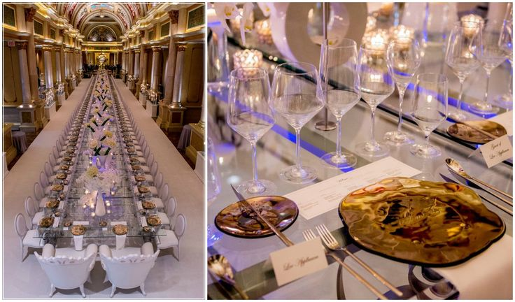 Personalized show plates designed by Glass Studio for Ultimo 2015 dining event hosted by The Venetian and The Palazzo Las Vegas