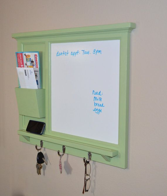 White Board Mail Organizer Letter Holder Key Coat Hat