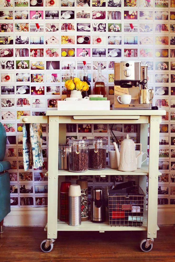 creare un angolo caffè carrello