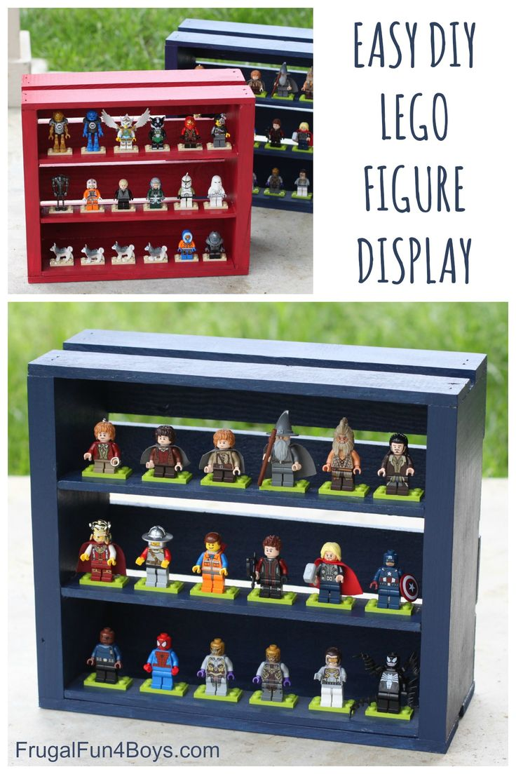 DIY Wooden Crate LEGO Minifigure Display - Easy and inexpensive to make, would be a fun project for kids or a fun to make as a gift!